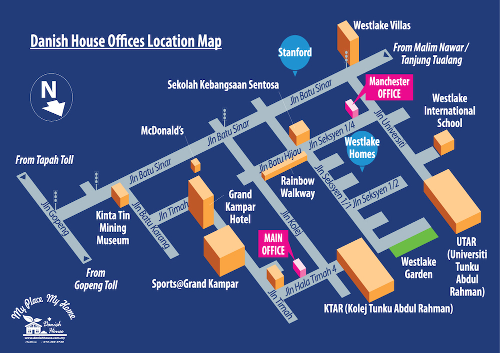 Danish House Offices Location Map