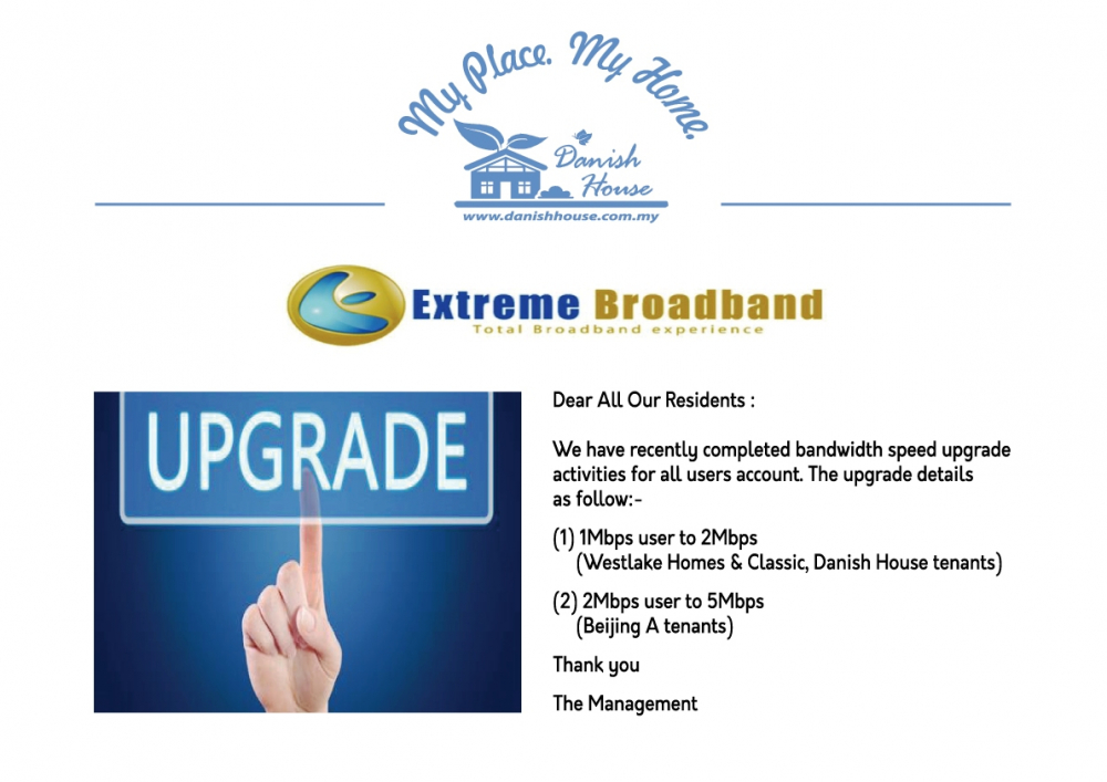 Bandwidth Free Upgraded